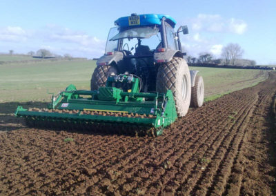 Ground preparation at Tavy Turf Farm