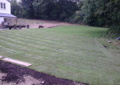Laying lawn