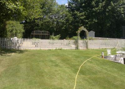 Finished laying turf at Yelverton