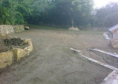 Ground preparation at Mary Tavy