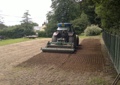 Ground preparation for a croquet lawn