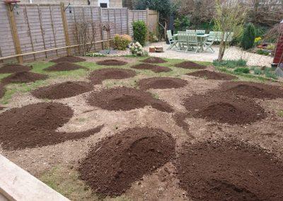 Customer own laying - topsoil