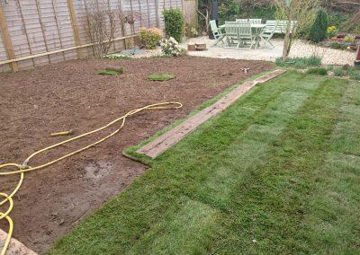 Customer own laying - laying turf