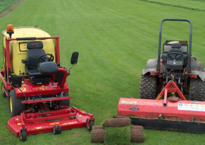 Specialist grass cutting machinery for a large lawn