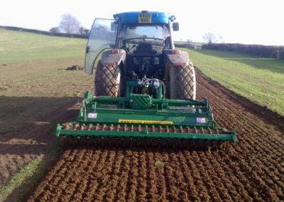 Ground preparation at Tavy Turf Farm